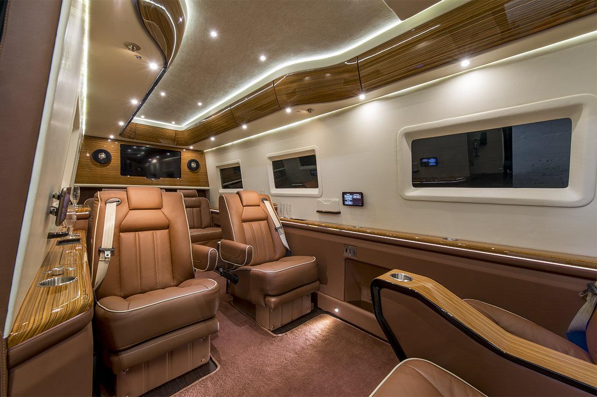 Luxury Recliners Mercedes Benz Sprinter Vip Limousine Inkas Professional