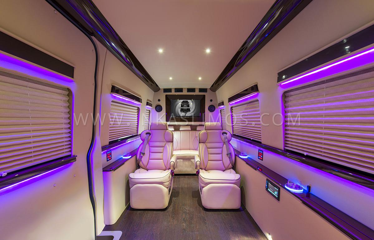 Mercedes benz sprinter vip limousine inkas professional - Mercedes sprinter interior light ...